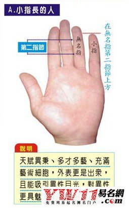 小指长的人