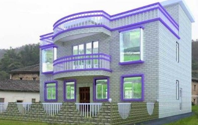 农村住宅风水比较注重方位与大门和窗户的的方位,需要开在见光的方位.图片